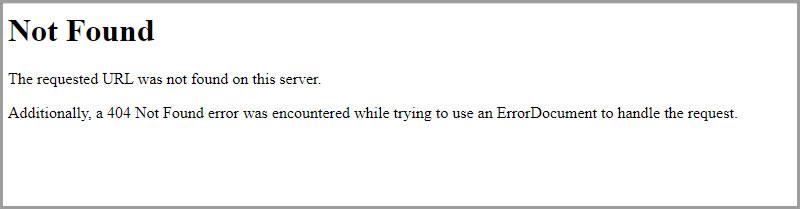 預設的404錯誤頁面