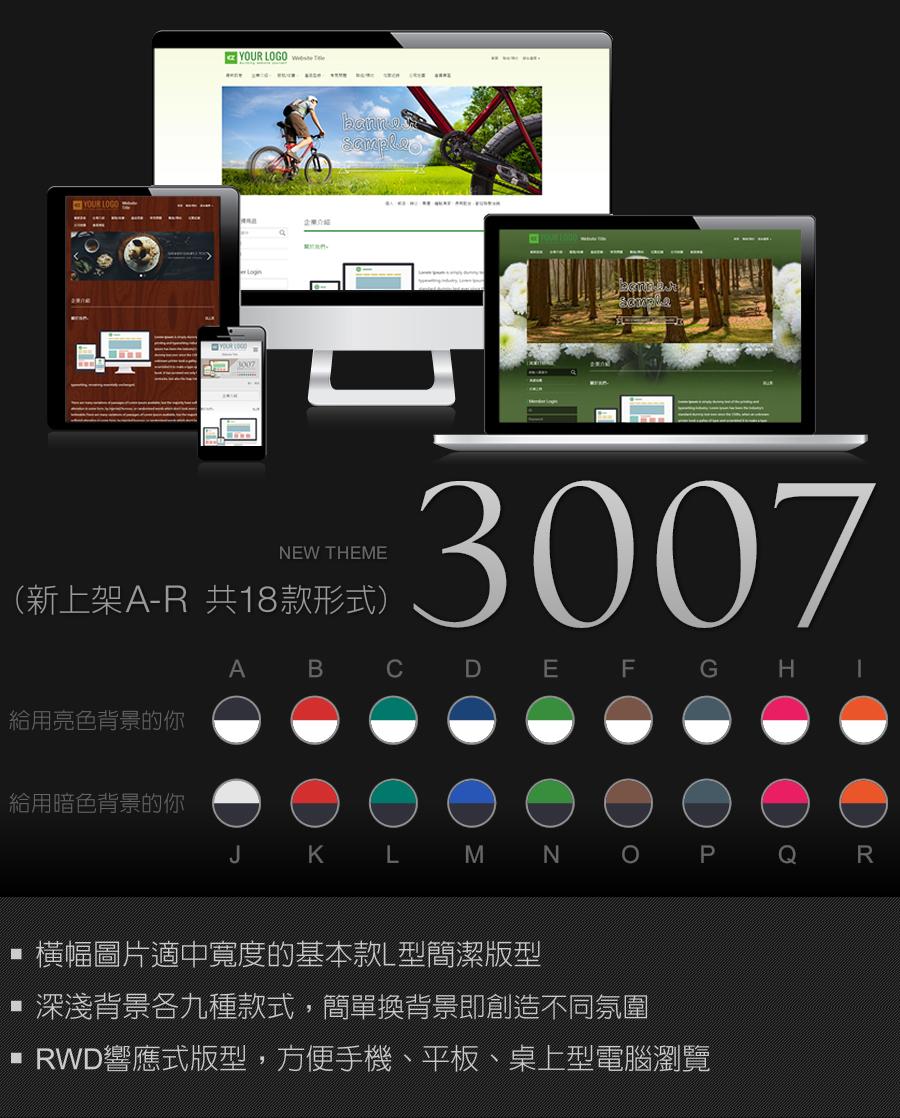 3007 RWD網頁設計版型
