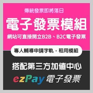 網站雲端電子發票模組首次設定費(包含導入ezPay電子發票&字軌申請輔導咨詢)