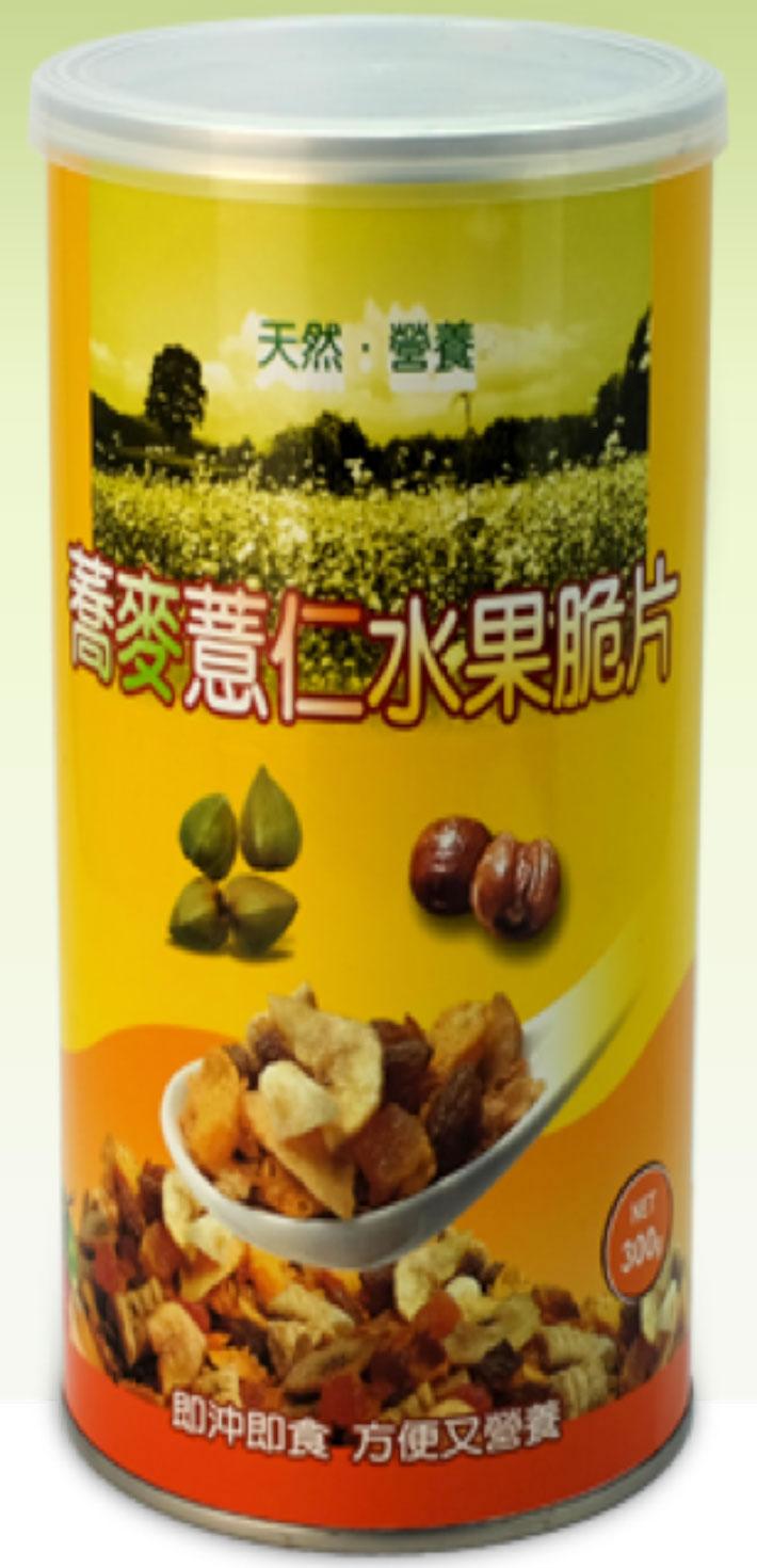 蕎麥薏仁水果脆片01