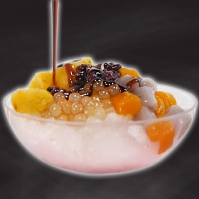 黑糖剉冰+黑背+外光暈