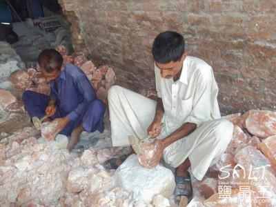 鹽燈巴基斯坦礦區