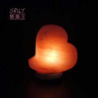 玫瑰鹽(心動)造型鹽燈(開燈)