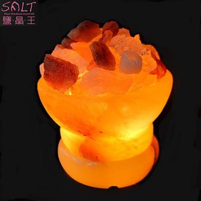 USB玫瑰鹽聚寶盆小鹽燈1