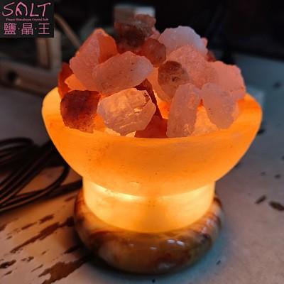 USB玫瑰鹽聚寶盆小鹽燈