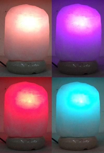 自然型白鹽彩變鹽燈-min