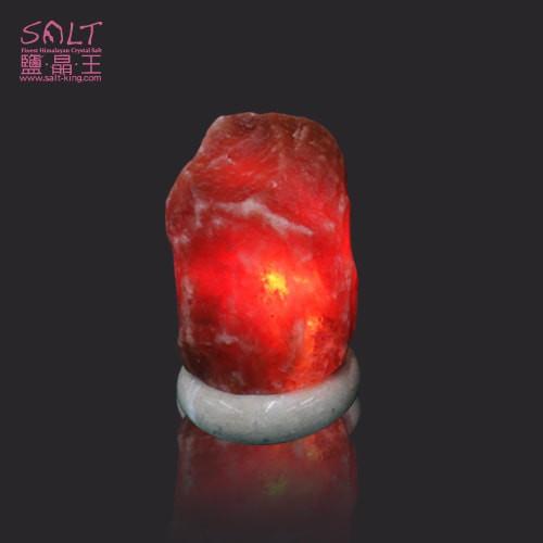 鹽燈專家【鹽晶王】正宗巴基斯坦頂級鴿血紅開運鹽燈2-4kg《紋石底座》《一入組》開運必備。