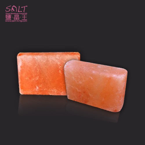 鹽燈專家【鹽晶王】喜馬拉雅山天然結晶玫瑰鹽SPA專用,100%純天然玫瑰岩鹽按摩石-肥皂方塊型(一入)