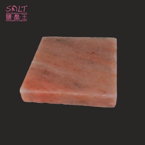 鹽燈專家【鹽晶王】喜馬拉雅山100%純天然結晶玫瑰岩(鹽板/鹽烤板/鹽磚)正方形一入。