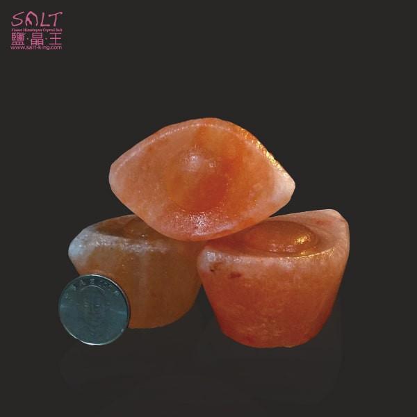 鹽燈專家【鹽晶王】巴基斯坦玫瑰結晶鹽《一錠銀》(三顆),手工磨製而成。